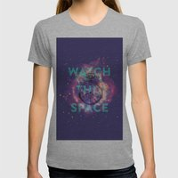 Watch This Space Womens Fitted Tee Athletic Grey SMALL