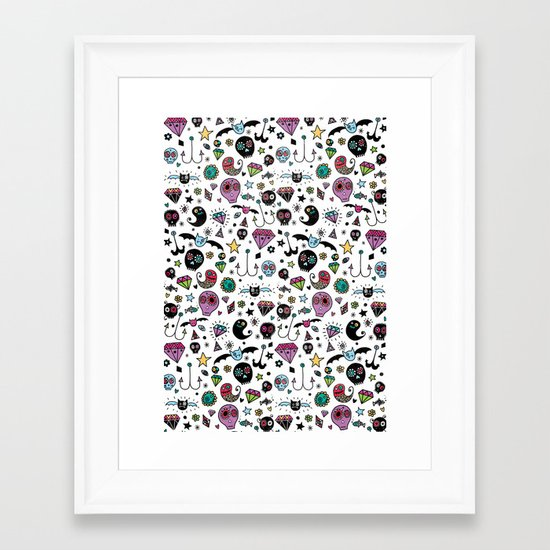 Day of the dead No.2 Framed Art Print