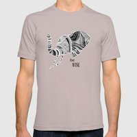 BE WISE Mens Fitted Tee Cinder SMALL