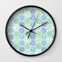Cool Hex Patchwork Wall Clock