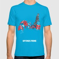 Transformers - Optimus Prime Mens Fitted Tee Teal SMALL