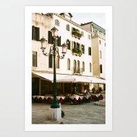 VENICE VII - STREET LIGHT Art Print
