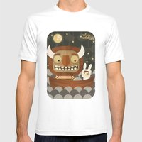 Where The Wild Things Ar… Mens Fitted Tee White SMALL