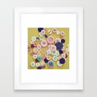 Vintage Buttons  Framed Art Print