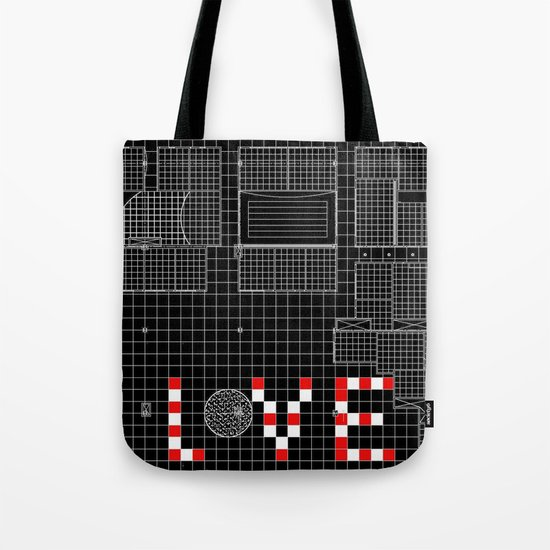 Architectural Print - Ceiling Plan - LOVE Tote Bag