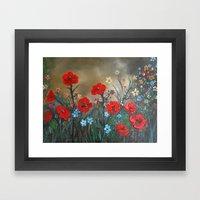Impasto Poppy Love - Tal… Framed Art Print