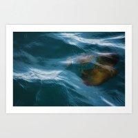 under sea jelly Art Print