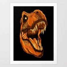 Geometric T-Rex Art Print