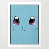 #007 Squirtle - Minimal Pokemon Art Art Print