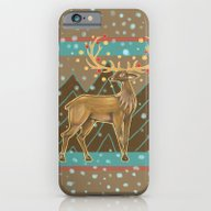 Golden Christmas Deer  iPhone 6 Slim Case