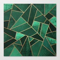 Emerald and Copper Canvas Print