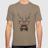 Björni Mens Fitted Tee Tri-Coffee SMALL