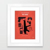 No453 My Die Hard minimal movie poster Framed Art Print