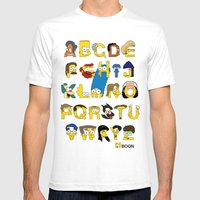 Simpsons Alphabet Mens Fitted Tee White SMALL