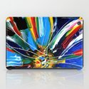 Dutch Spin - Colorful abstract painting flower iPad Case