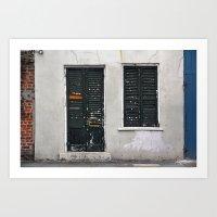 New Orleans Windows and Doors VI Art Print
