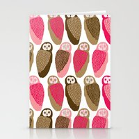 owls Stationery Cards featuring Owls by Lydia Meiying