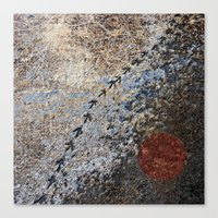 Rugged terrain from above Canvas Print