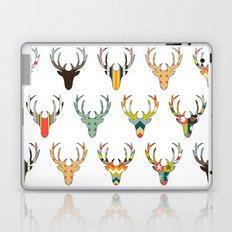 retro deer head white Laptop & iPad Skin