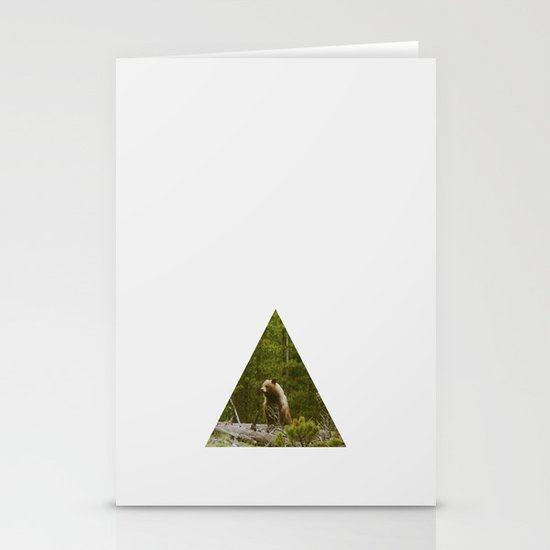 Log Bear Stationery Card