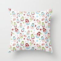 Matryoshka - Seasons Throw Pillow