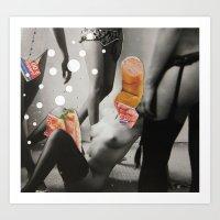 Wonderful Meat 3 Art Print