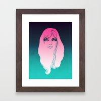 Pink Face Framed Art Print