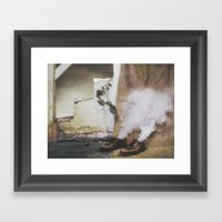 Two Shoes and a Plant  Framed Art Print