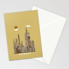Detroit skyline vintage  Stationery Cards
