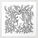 Jungle Ele Art Print