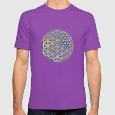 The Flower of Life in the Sky Mens Fitted Tee Ultraviolet SMALL