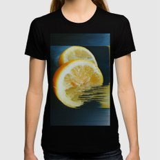 Lemony Good V.2  Womens Fitted Tee Black SMALL