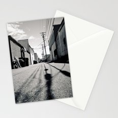 Alley shadows Stationery Cards