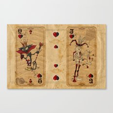 Oddity Playcards - Joker & Queen Canvas Print