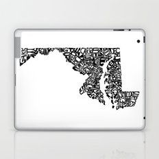 Typographic Maryland Laptop & iPad Skin