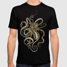 Octopsychedelia Sepia Black Mens Fitted Tee SMALL