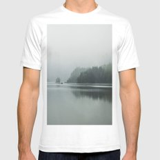 Fog - Landscape Photography Mens Fitted Tee White SMALL