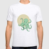 Octopus Mens Fitted Tee Ash Grey SMALL
