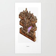 Diagonally Art Print