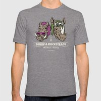 Bebop & Rocksteady Henchmen Academy  Mens Fitted Tee Tri-Grey SMALL