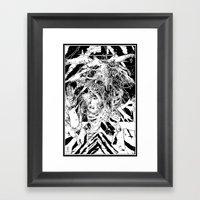 Devil Glitch  Framed Art Print