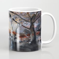 Autumn rain - watercolor Mug