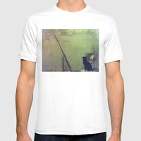 Gato Mens Fitted Tee White SMALL