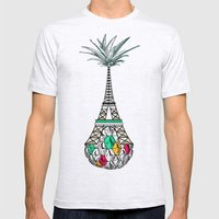Pineapple Architecture 4… Mens Fitted Tee Ash Grey SMALL