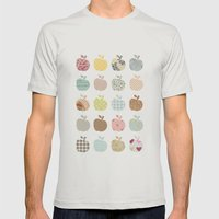 apples galore Mens Fitted Tee Silver SMALL