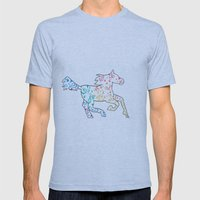 Horse Mens Fitted Tee Athletic Blue SMALL