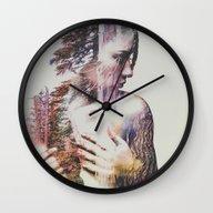Wilderness Heart #3 Wall Clock