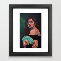 Lady With Fan Framed Art Print