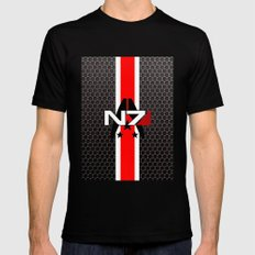 N7 Mens Fitted Tee Black SMALL