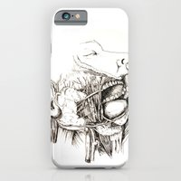 iPhone & iPod Case featuring Anatomy: Study 1 Salivating Zombie by Adam James